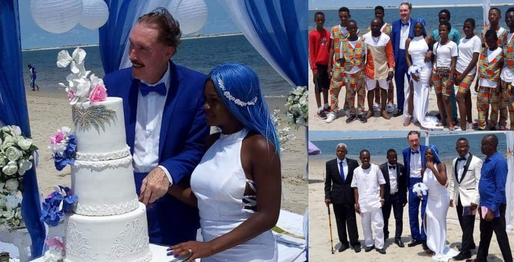 Photos Of 21-year-old Nigerian Woman Getting Married To A White Man In Lagos