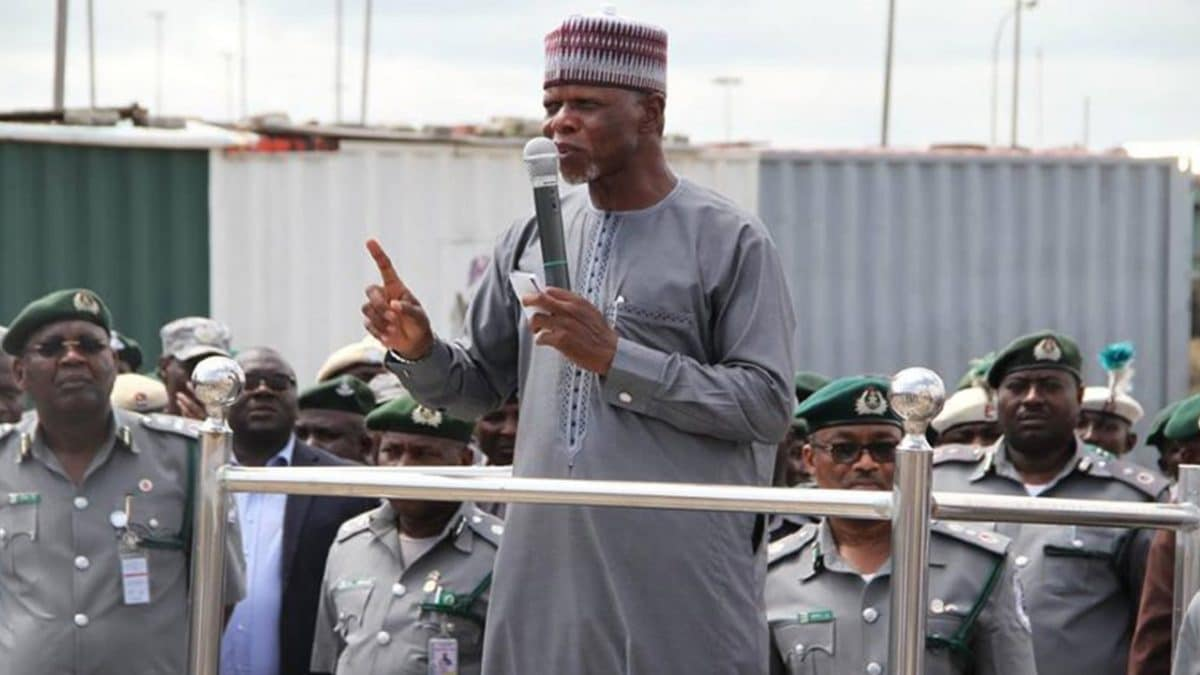 Comptroller General of the Nigerian Customs Service, Colonel Hammed Ali (rtd)
