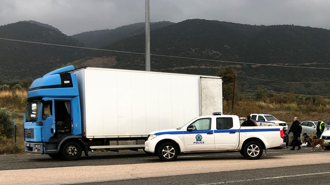 migrants in Greece refrigerated truck