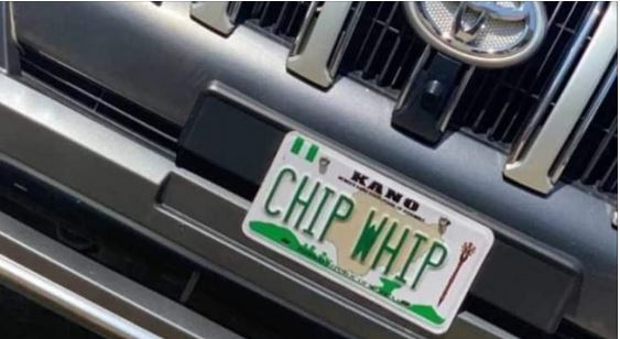 The controversial plate number