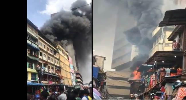 Balogun market fire
