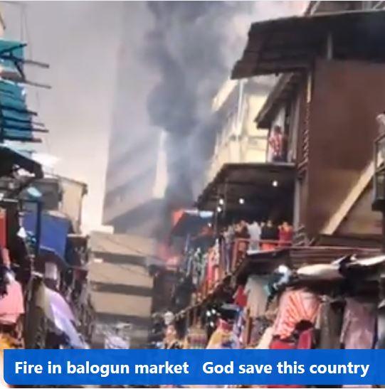 fire in Balogun market