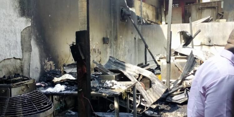 Chinchin factory razed by fire