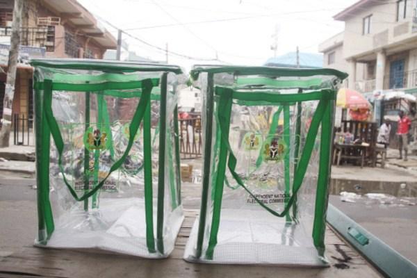 File photo: Election ballot boxes
