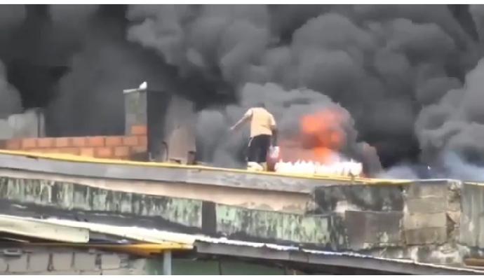 Balogun market fire incident