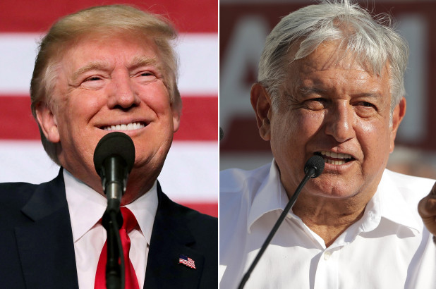 Donald Trump and Lopez Obrador