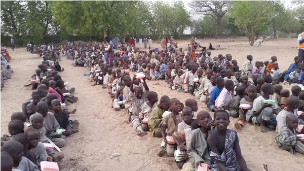 Hungry people in Nigeria