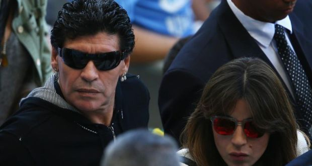 Diego Maradona and daughter
