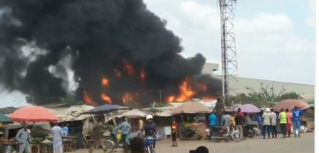 Fire at Dangote factory