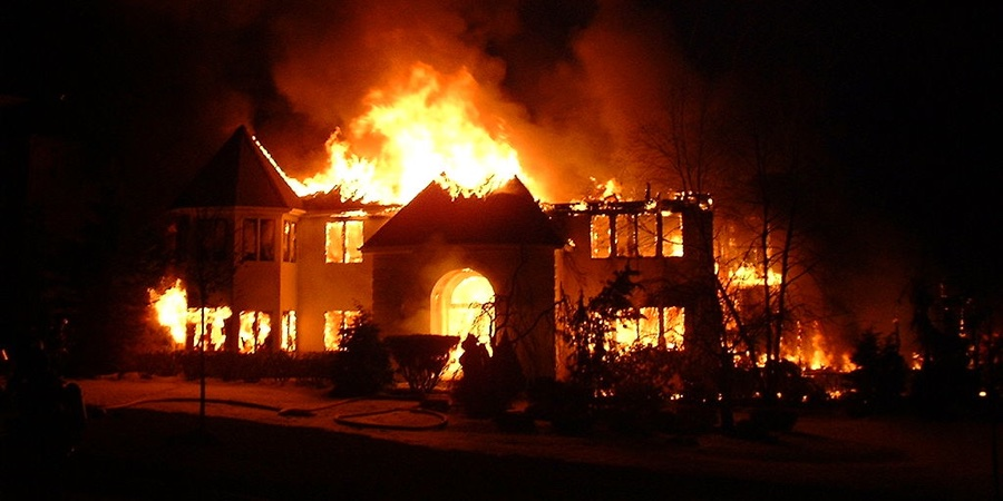 house on fire in Rivers