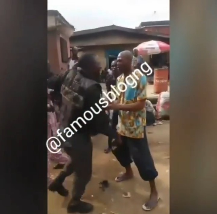 Police officer beaten in Lagos