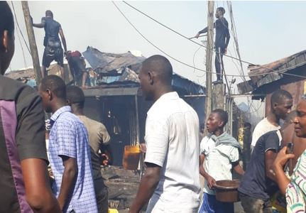 Fire on Jebba by Okobaba Street