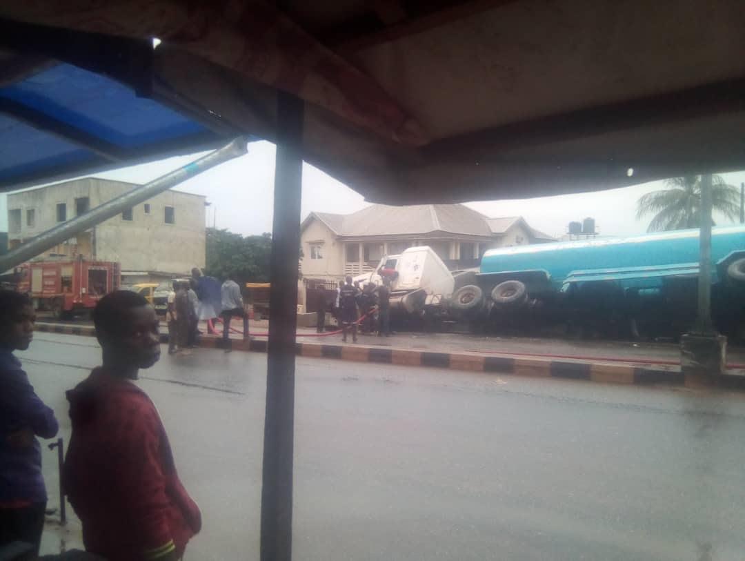 Tanker falls in Anambra