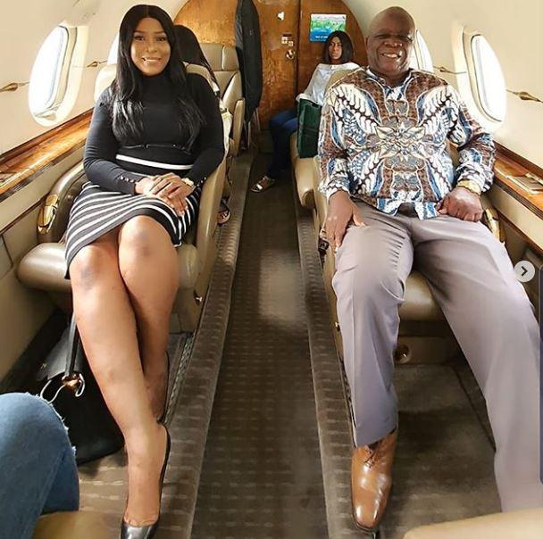 Linda Ikeji in private jet