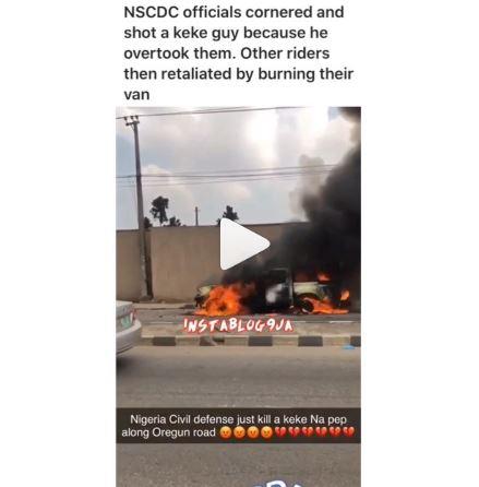 NSCDC official kills keke driver