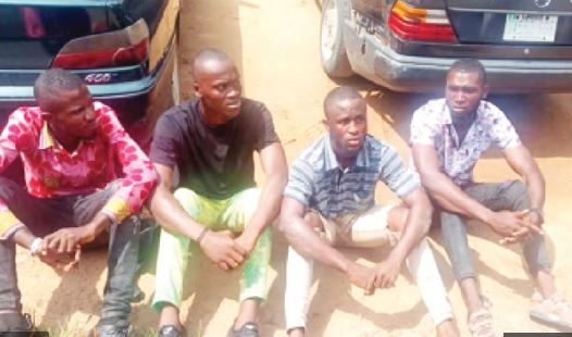 The suspected human traffickers and cultists