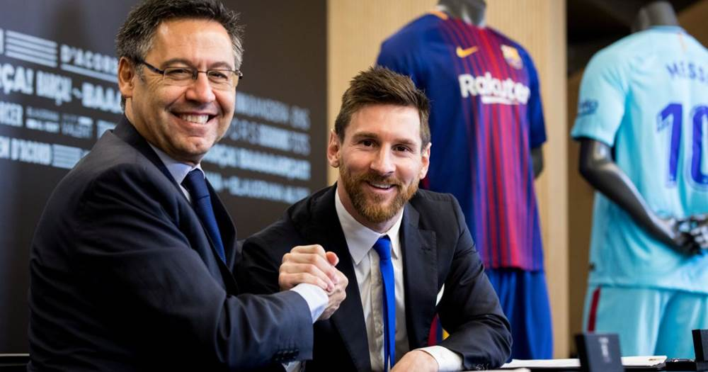 Messi and Bartomeu