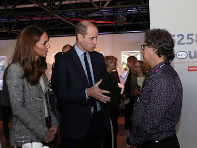 Duke and Duchess of Cambridge with Molly Russell's Father