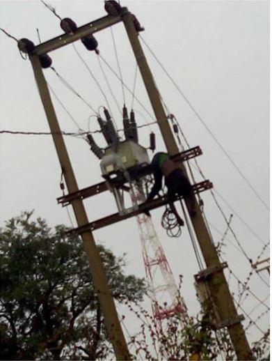 Transformer vandal electrocuted
