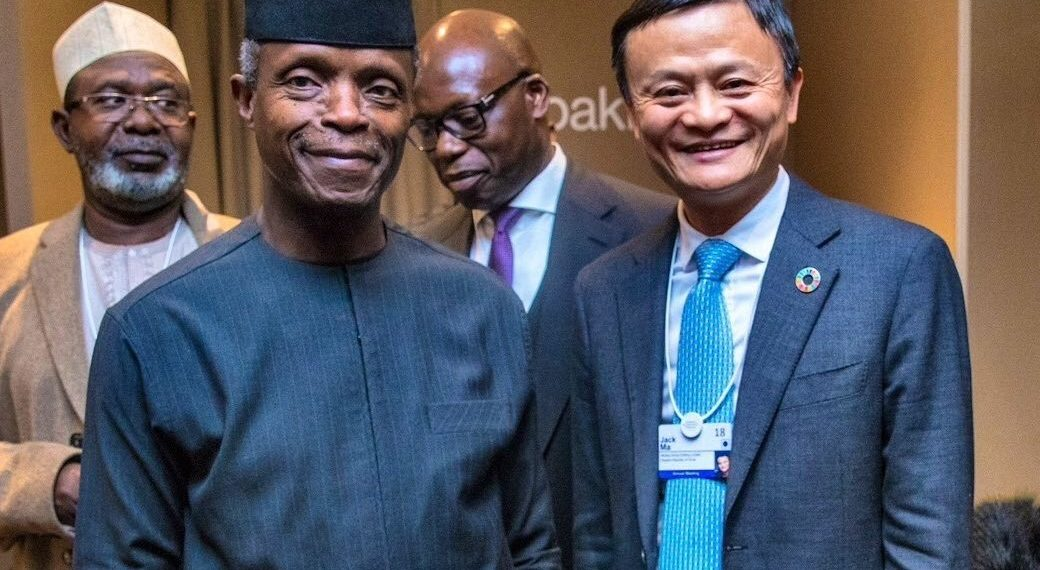 Vice President Yemi Osinbajo and Mr Jack Ma