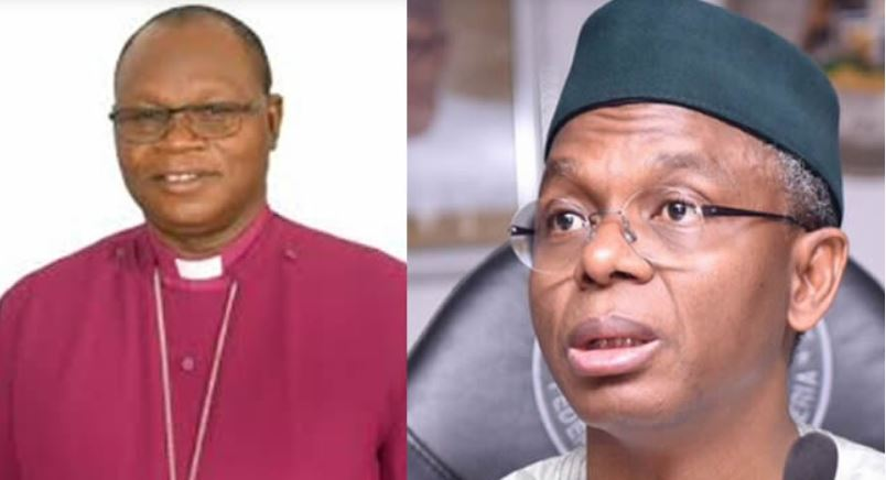 Bishop of Zaria Diocese (Anglican Communion), Rt Rev Abiodun Ogunyemi and Governor El Rufai