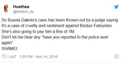 Fatoyinbo vs Busola