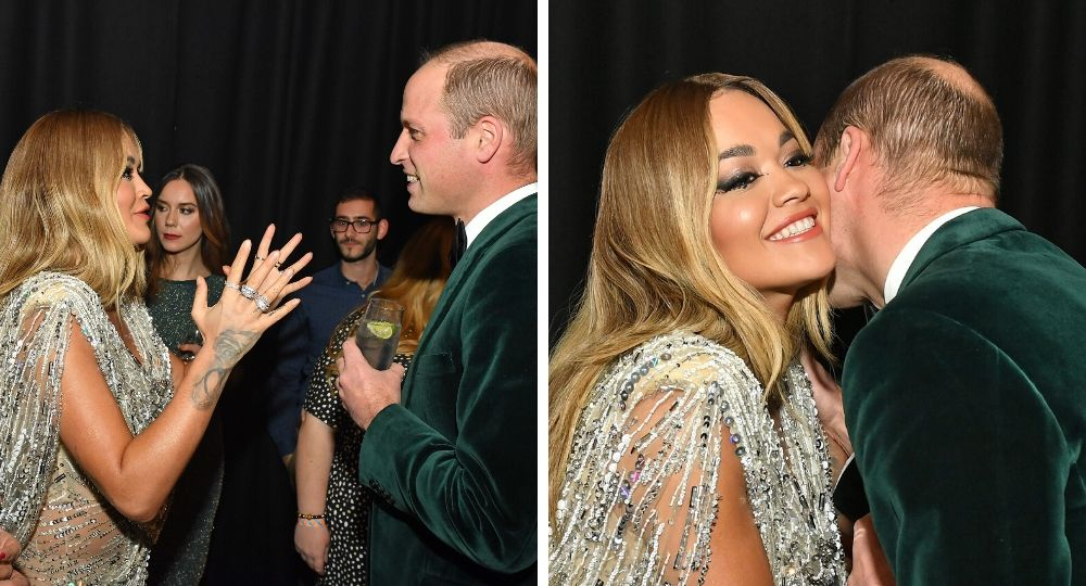 Rita Ora and Prince William meets at Centrepoint's 50th Anniversary Gala