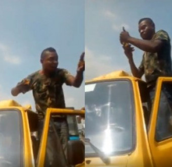 The army official caught on tape assaulting a LASTMA official