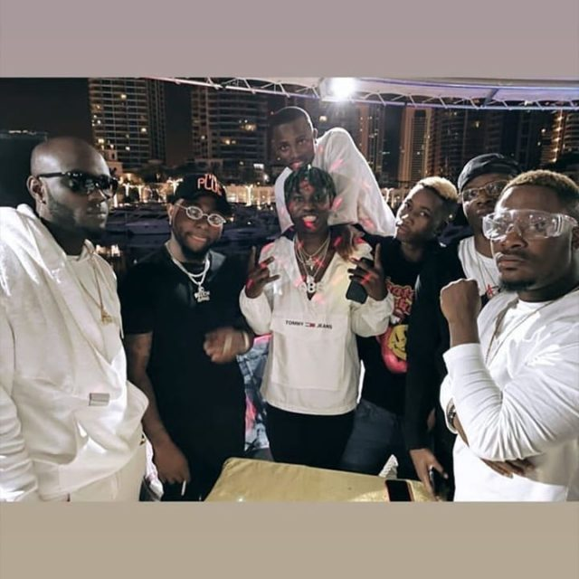 Davido and his gang members after a shopping spree