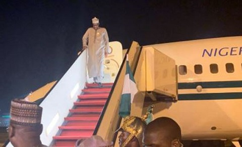 Buhari returns after private visit to London