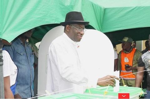 Goodluck Jonathan votes in Otuoke, Bayelsa