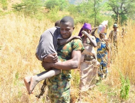 Army troops rescue captives from boko haram in Borno