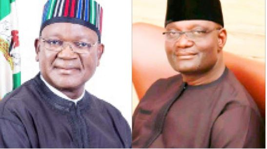 Governor Samuel Ortom, Mr Emmanuel Jime