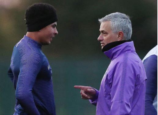 Jose Mourinho training session