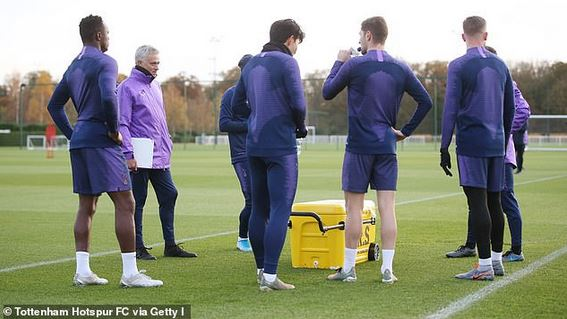 Jose Mourinho training session