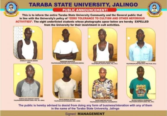 University Expels 8 Students For Cultism (Photos & Names) 1