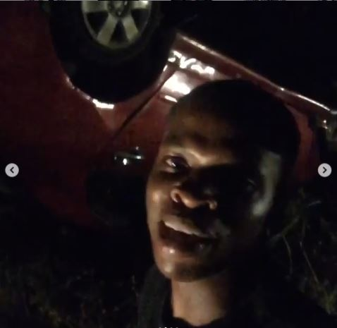 Abimbola suffers accident