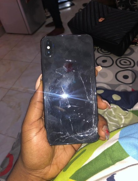 cracked phone