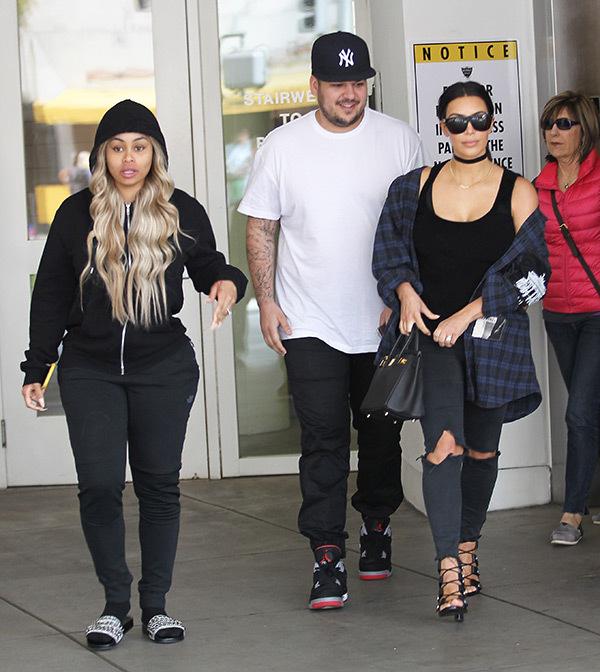 Blac Chyna, Rob Kardashia, Kim Kardashian