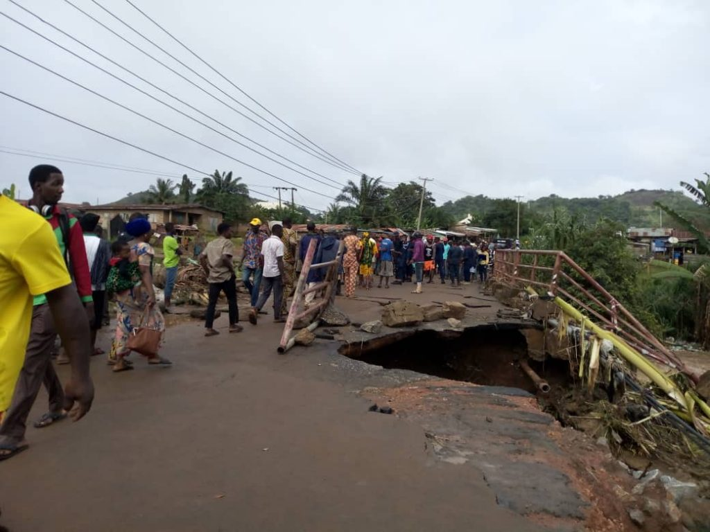 Ureje bridge collapses
