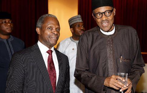Vice President Yemi Osinbajo andPresident Muhammadu Buhari
