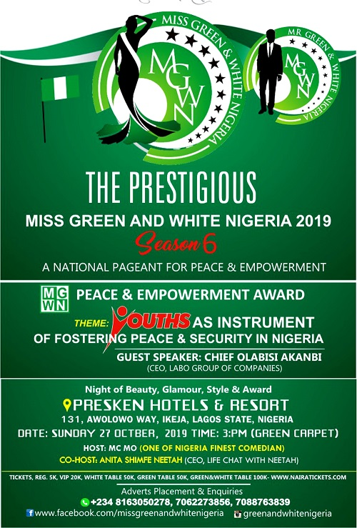Miss Green and White Nigeria Pageant