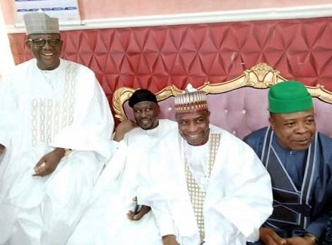 amfara State Governor Bello Matawalle; his counterparts from Adamawa, Sokoto and Imo states, Governors Umar Fintiri; Aminu Tambuwal and Emeka Ideohoha