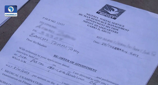 Documents allegedly forged by suspected forgery syndicates