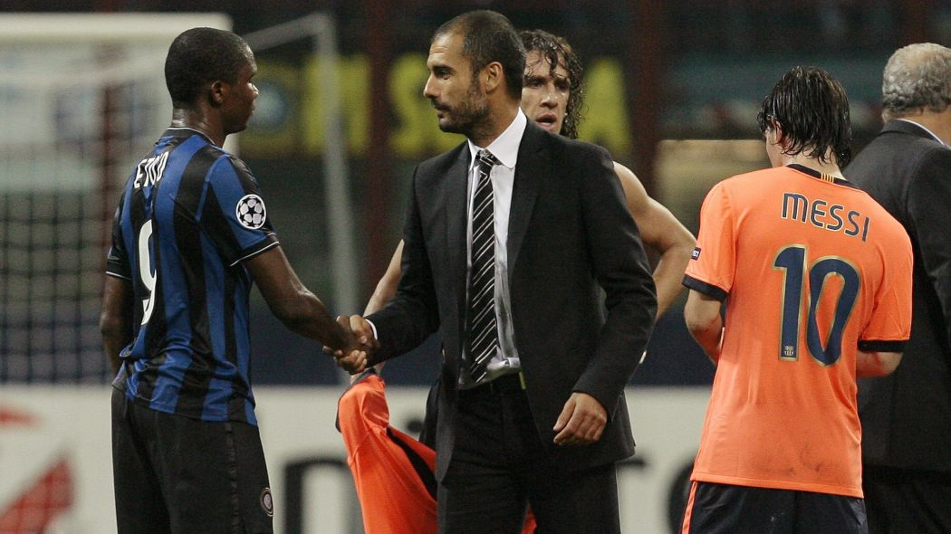 Samuel Eto'o and Guardiola