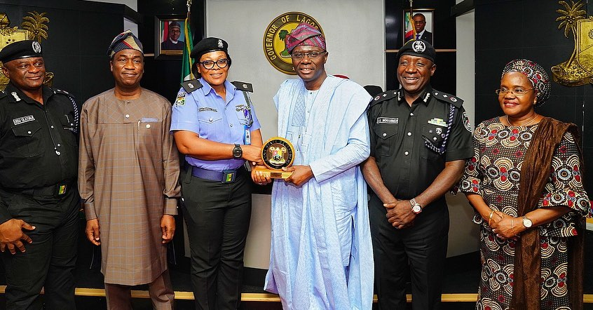 Governor Sanwo-Olu rewards Police Officer, Celestine Kalu