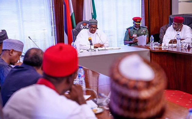 President Buhari with members of EAC