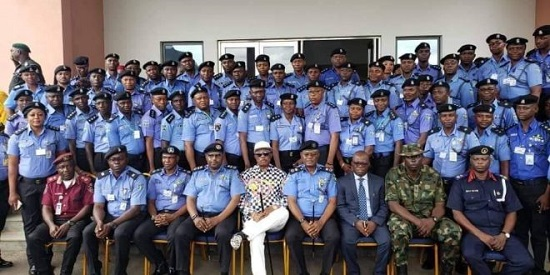 Gov.Willie Obiano and Police Officials