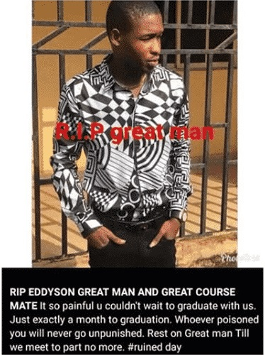 Final Year Student Allegedly Poisoned To Death (Photos) 3
