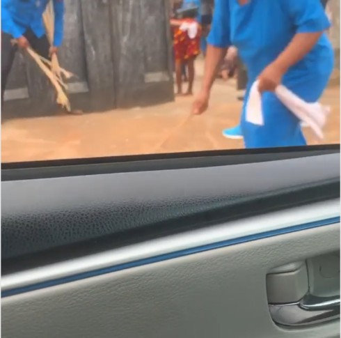 Church Members Flog 'Poverty' With Canes In Church Premises (Photos+Video) 3